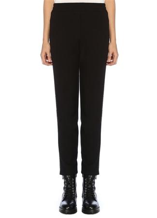 Beymen Collection Kadın Siyah Yanı Zincir Şeritli Jarse Pantolon S