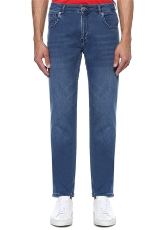 XSlim Fit Mavi Normal Bel Jersey Jean Pantolon