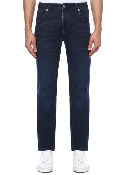 XSlim Fit Lacivert Normal Bel Jersey Jean Pantolon
