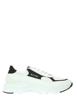 Paul Smith Erkek Beyaz File Garnili Deri Sneaker US male 10