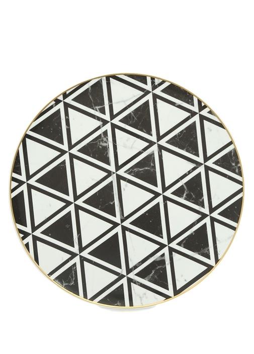 ChargerGeometrik Üçgen Formlu PorselenSupla