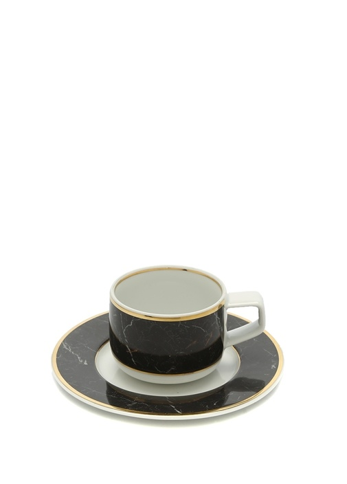 Carrara Desenli Porselen Kahve Fincanı Takımı