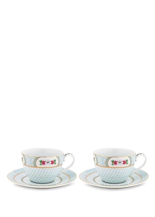 Blushing Birds Baskılı 2li Çay Fincanı Seti