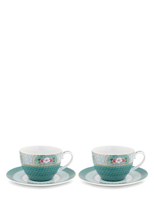 Blushing Birds 2li Porselen Çay FincanıSeti