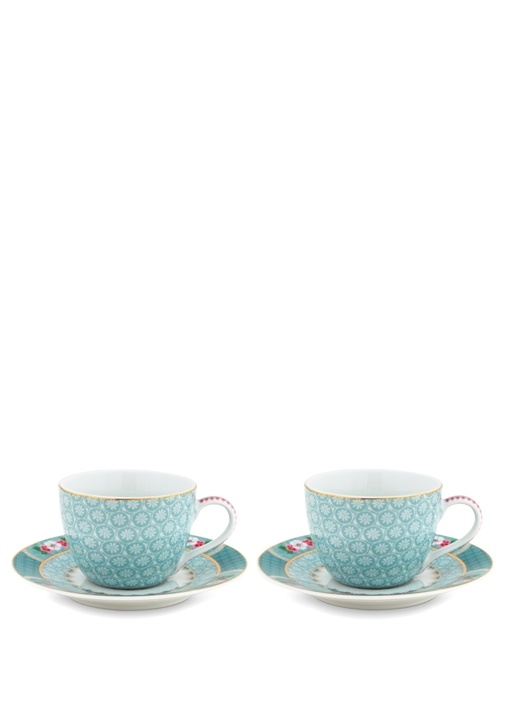 Blushing Birds 2li Porselen Kahve Fincanı Seti