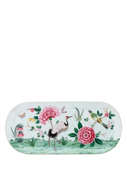 Blushing Birds Oval Porselen Servis Tabağı