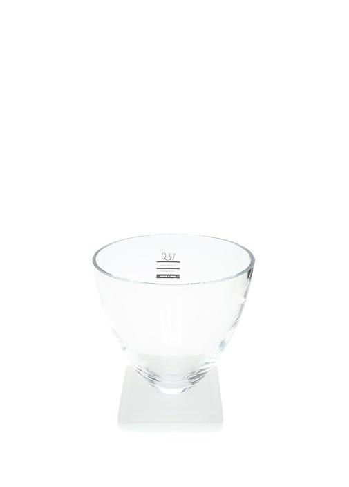 Buzlu Cam Altlık Detaylı Vazo