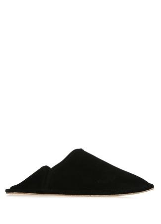 Siyah Topuk Detaylı Kadın Süet Terlik