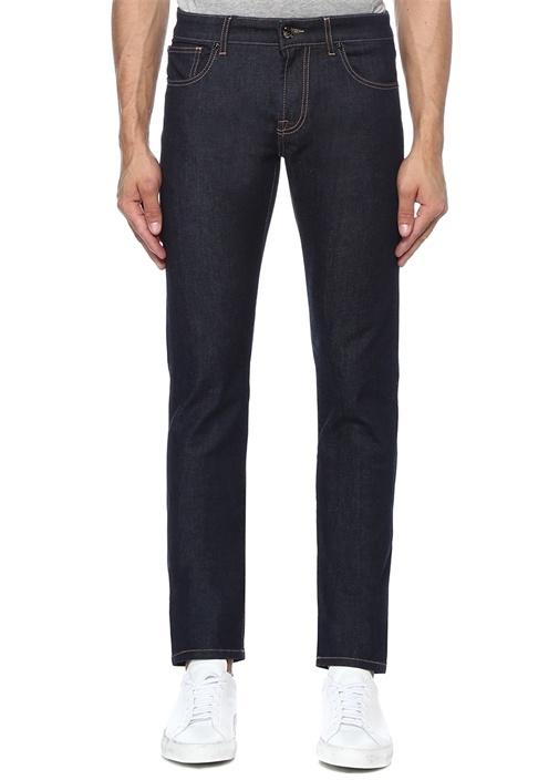 Lacivert Normal Bel Dar Paça Jean Pantolon
