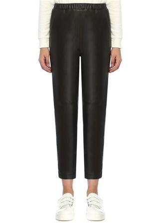 Beymen Club Kadın Siyah Havuç Kesim Deri Pantolon M