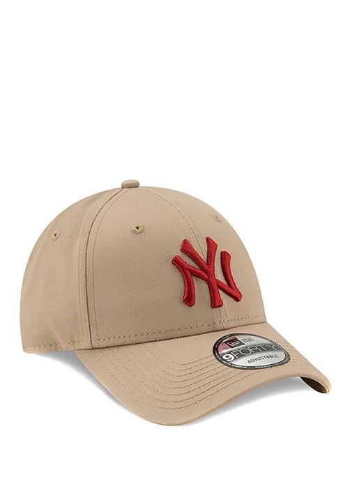 New York Yankees 9 Forty Bej Kırmızı Kadın Şapka