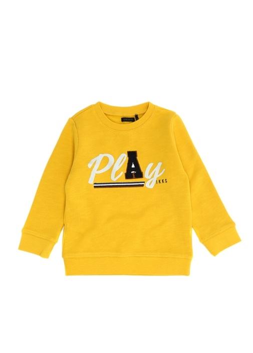 Sarı Baskılı Erkek Çocuk Sweatshirt