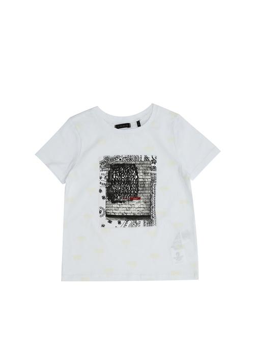 Beyaz Karanlıkta Parlayan Erkek Çocuk T-shirt