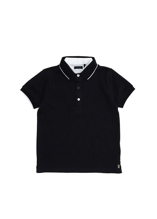 Lacivert Polo Yaka Erkek Çocuk T-shirt