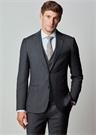 Drop 7 Lacivert Silik Kareli Yün Soft Takım Elbise