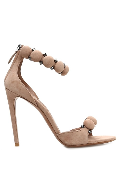 Pudra Troklu Kadın Nubuk Sandalet