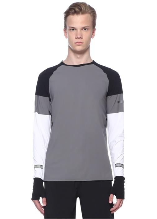 Flash Gri Baskılı Sweatshirt