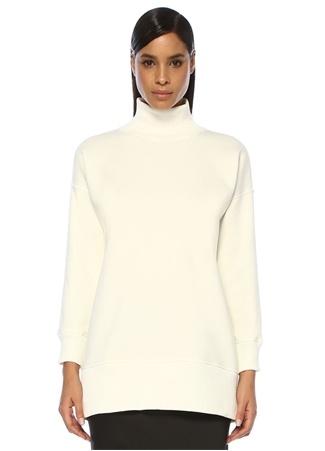 Beymen Club Kadın Ekru Dik Yaka Yanı Fermuarlı Tunik Sweatshirt Bej M female