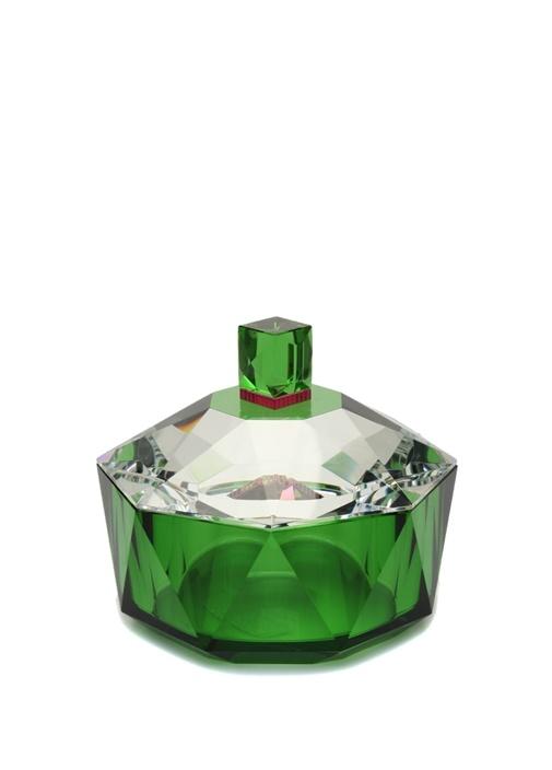 New Haven Yeşil Dekoratif Kristal Kase