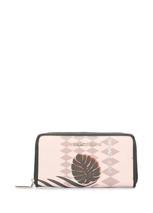 Versace Bej Logolu Desenli Kadın Cüzdan – 515.0 TL
