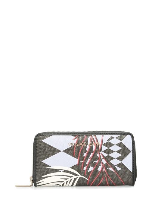 Versace Siyah Logolu Desenli Kadın Cüzdan – 515.0 TL