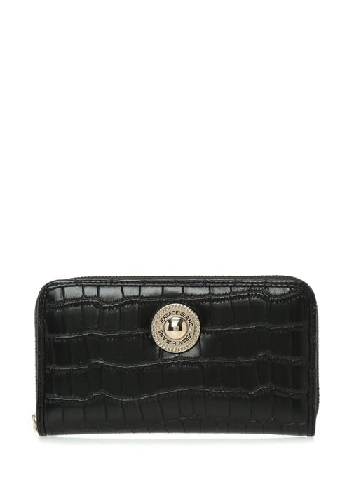 Versace Siyah Krokodil Desenli Logolu Kadın Cüzdan – 549.0 TL