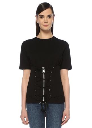 Dafne Siyah Kuşgözlü Korse Detaylı T-shirt