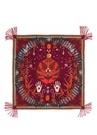 Africindian Kırmızı Desenli 130x130 cm Kadın Eşarp