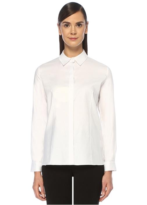 Beyaz Klasik Oxford Gömlek