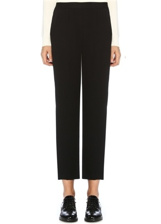 Beymen Club Kadın Siyah Pijama Formlu Krep Pantolon 36 female