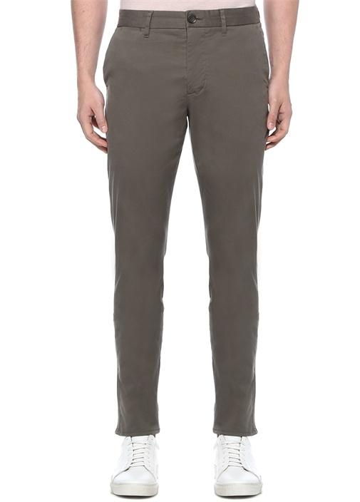 Slim Fit Felix Haki Kanvas Pantolon