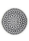 Aztec Siyah Beyaz Desenli Kadın Plaj Havlusu