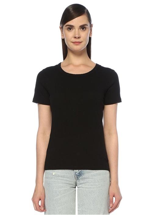 Feda Siyah Bisiklet Yaka T-shirt