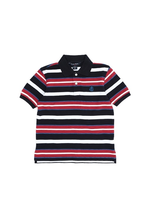 acfdd5d868ce3 Brooks Brothers - Colorblocked Polo Yaka Logo Nakışlı Çocuk T-shirt ...
