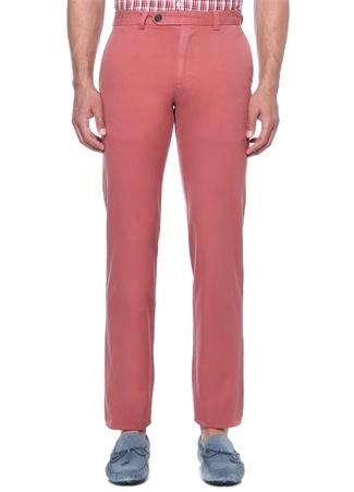 Kırmızı Normal Bel Kanvas Pantolon