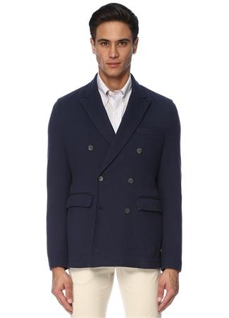 Brooks Brothers Erkek Lacivert Kırlangıç Yaka Kruvaze Ceket XL EU male
