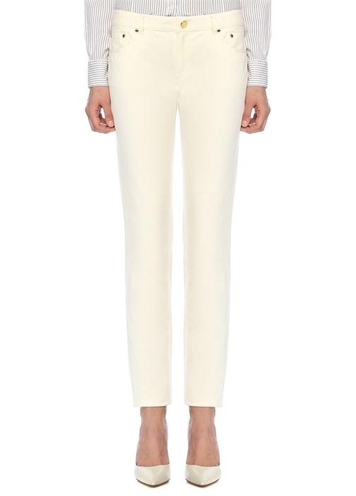 Brooks Brothers Natalie Fit Beyaz Normal Bel Boru Paça Pantolon – 299.0 TL