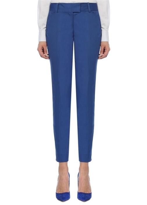 Brooks Brothers Natalie Fit Mavi Dar Paça Streç Pantolon – 299.0 TL