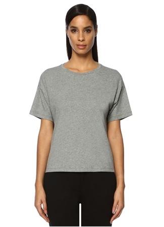 Beymen Collection Kadın Gri Yanı Taş Şeritli T-shirt S