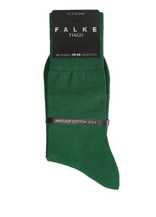 Yeşil Logo Jakarlı Erkek Çorap