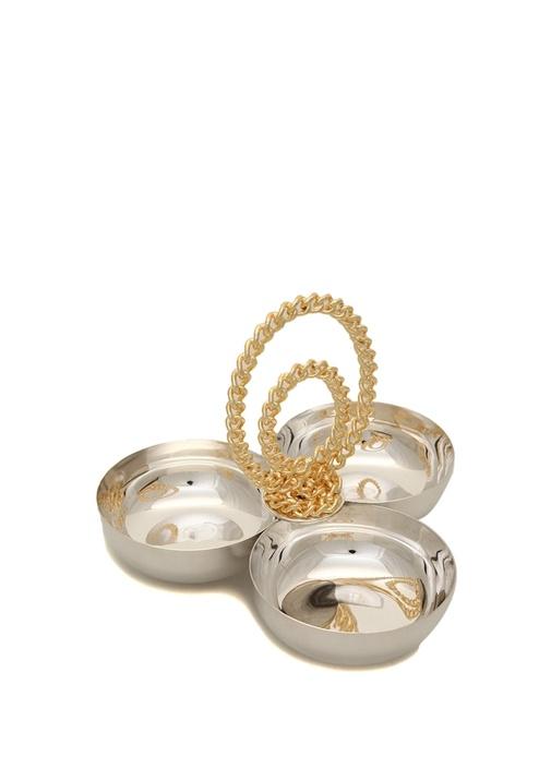 Gold Zincir Detaylı Gümüş Çerezlik