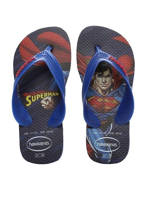 Superman Baskılı Unisex Çocuk Plaj Terliği