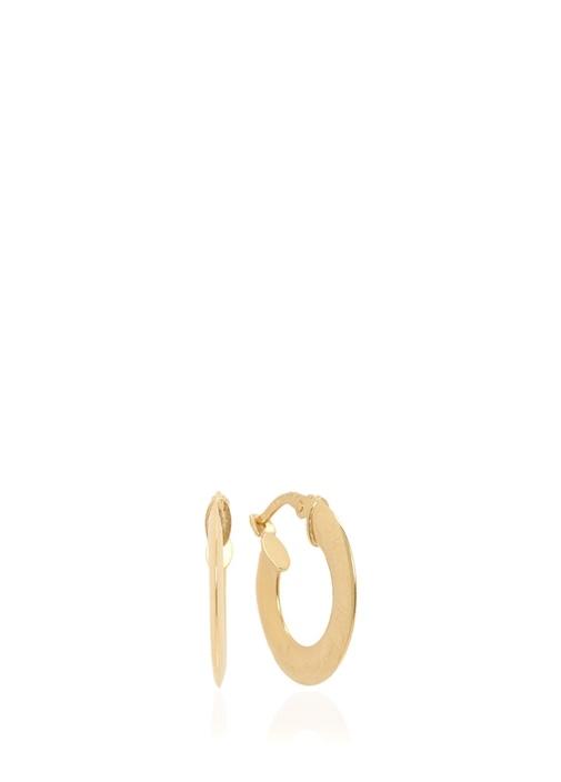 Gold Halka Formlu Kadın Altın Küpe