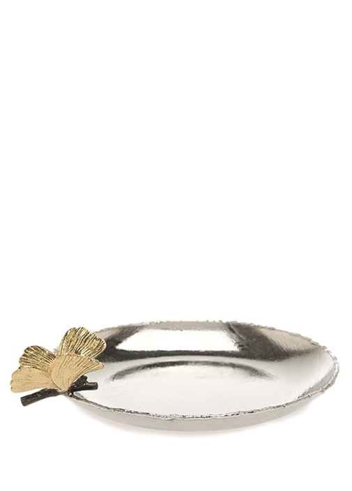 Butterfly Gingko Silver Tepsi
