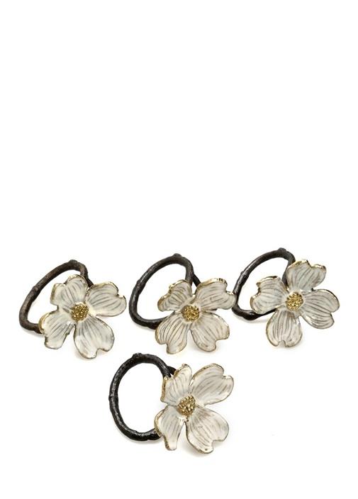 Dogwood Napkin Çiçek Formlu 4lü Peçetelik