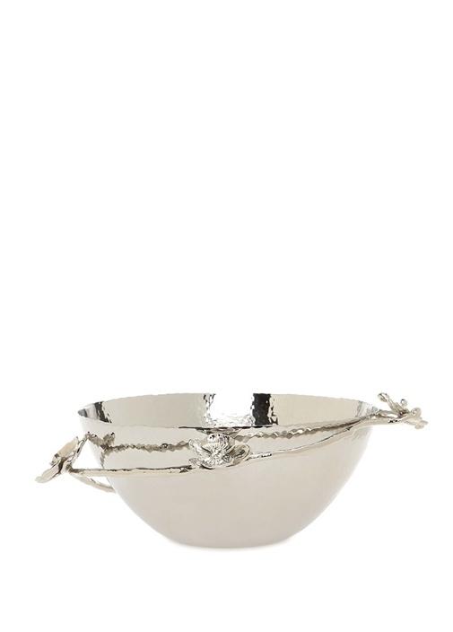 White Orchid Medium Silver Dekoratif Kase