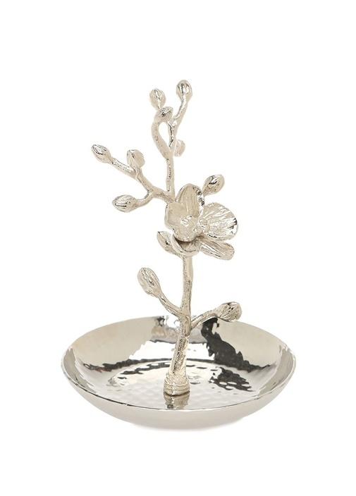 White Orchid Silver Dekoratif Obje