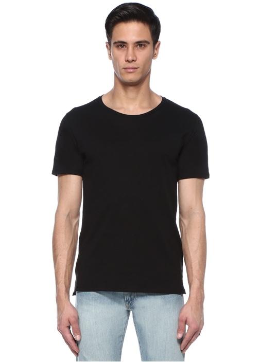 Siyah Bisiklet Yaka Basic T-shirt
