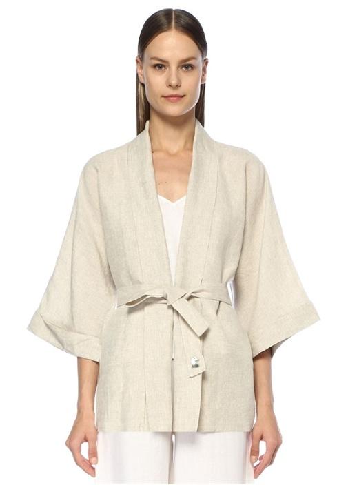 Elephant House Of Magic Krem Keten Kimono Ceket
