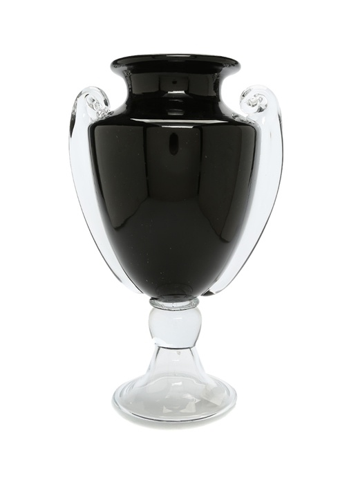 Roman Siyah Kupa Formlu Cam Vazo